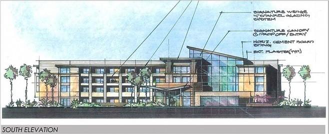 Sunroad's proposed 175-room hotel on Harbor Island (June 2011 illustration)