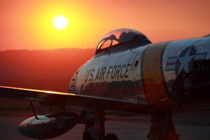 F-86 at Sunset
