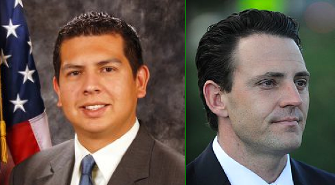 Mayoral candidates David Alvarez and Nathan Fletcher