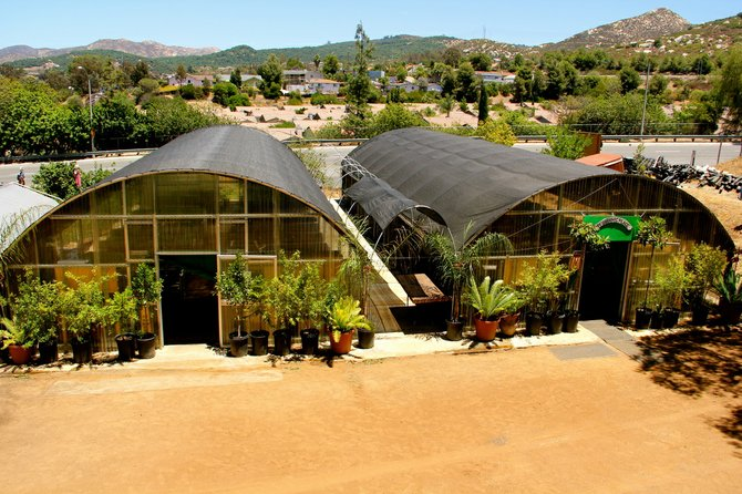The two greenhouses of My Organic Place, Image provided by My Organic Place
