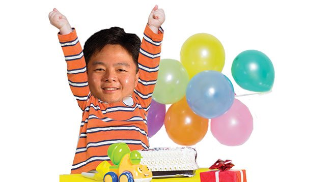 State senator Ted Lieu received a birthday cake and balloons from Barona.