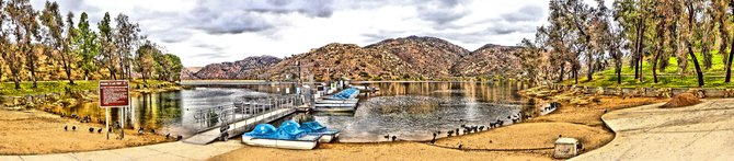Boat Dock at Poway Lake, CA