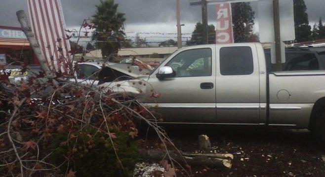 The seizure victim's truck