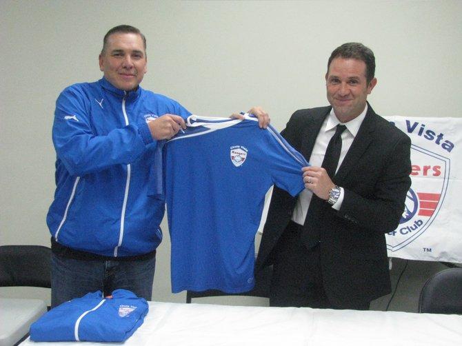 President Fernando Aparicio and Director of Coaching Diego Terry.