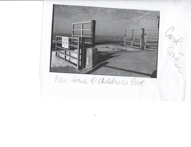 The Grandfather of Disabled Ramps to the real Pacific Ocean, paved and used by wheelchairs for decades. (Closed to the disabled in favor of a seal feces polluted beach) Barring from any Pacific Ocean access for decades. Serious ADA Violations since the enactment of the important laws. And Violates Ellen Scripps Trust as well as being very mean spirited.