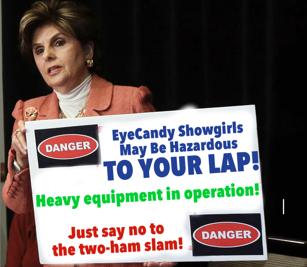Allred at press conference announcing lawsuit against Eyecandy.