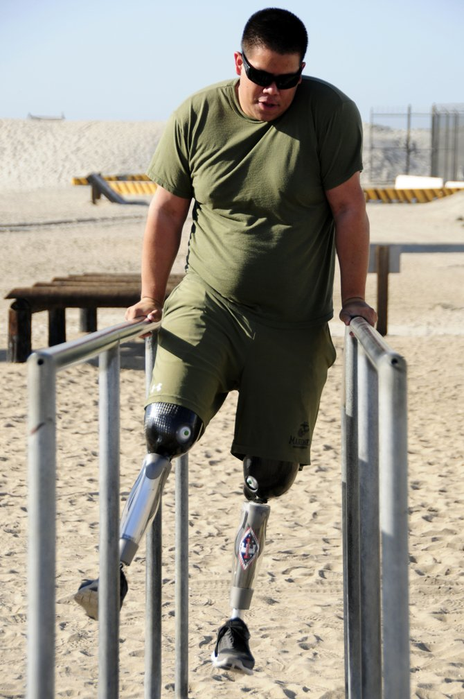 A paraplegic NAVY seal needs the protection of the Children's Pool.