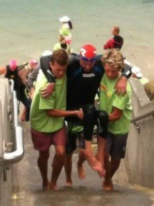 Challenged Athletes could roll into the Children's Pool Ocean Access on their own ramp!