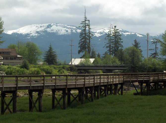 Beautiful day for a walk in Seward, Alaska, in the summer.