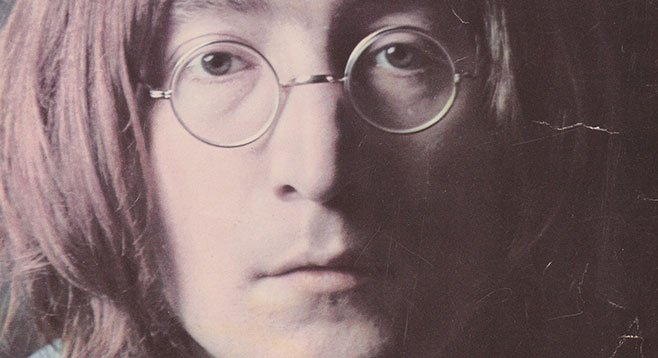 John Lennon glossy signed for local musician Zak Goode, just before the rock star's murder.