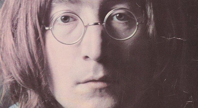John Lennon glossy signed for local musician Zak Goode, just before the rock star's murder.