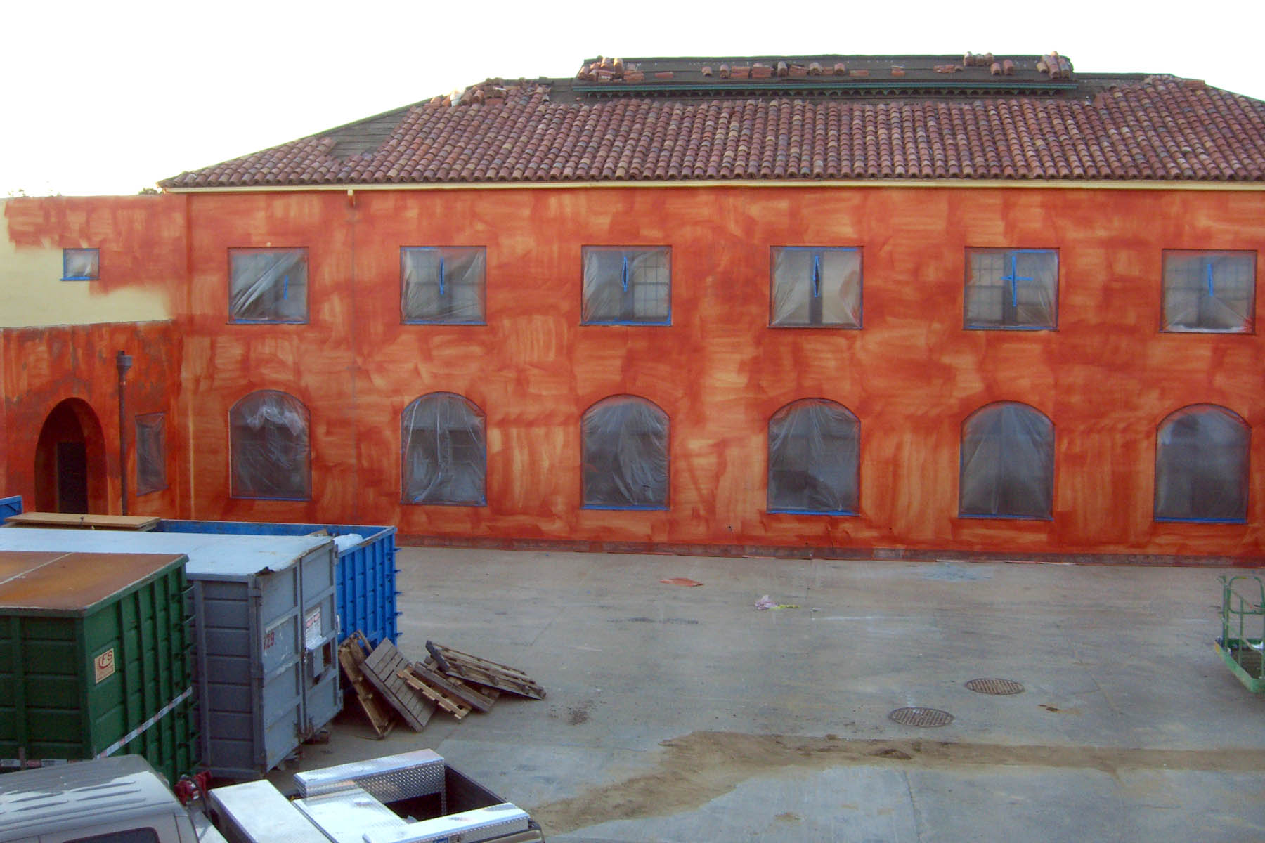 A Barracks building during restoration