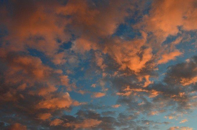 Clouds at sunset.  San Dieguito Lagoon.  Del Mar, California.  November 24th, 2013.
