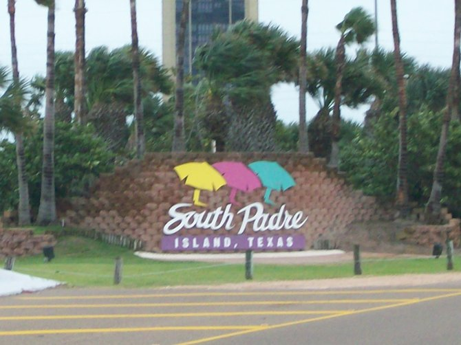 Welcome to South Padre Island sign.