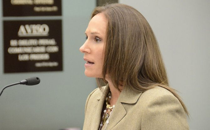 Prosecutor Tracy Prior said that knife blades were broken off in the victim. Photo Weatherston