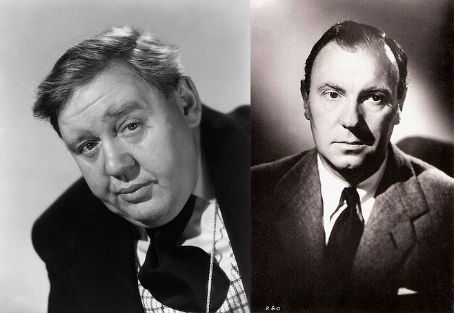Charles Laughton (left) and Ralph Richardson.