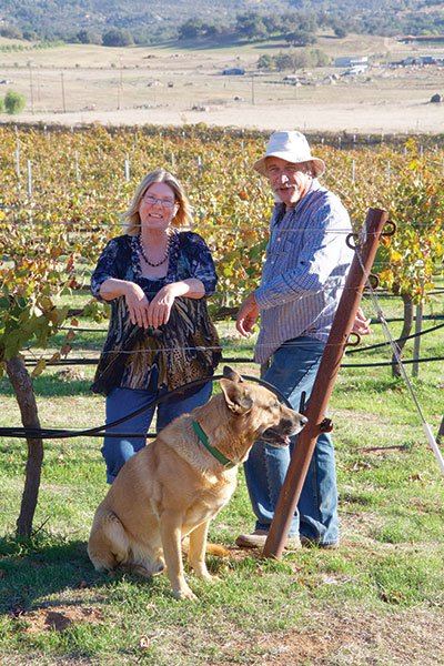 """We approach things from a farming standpoint,"" says Beth Edwards (with husband Victor) of Edwards Vineyard 