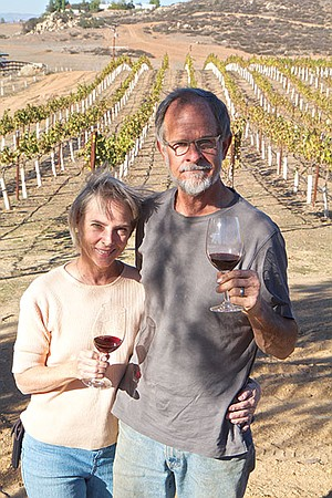 """We don't want to grow if that means pricing out vinophiles,"" say Andy Harris (with wife Carolyn) of Chuparosa."