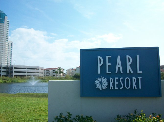 The Pearl Hotel entrance in South Padre Island, Texas.