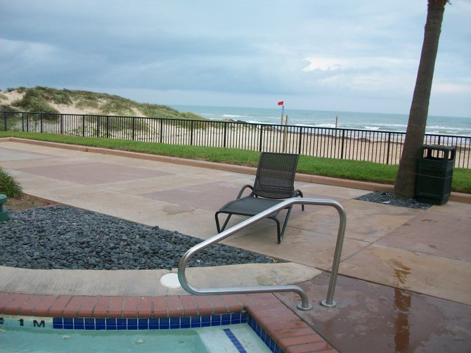 Jacuzzi near the beach on South Padre Island, Texas.