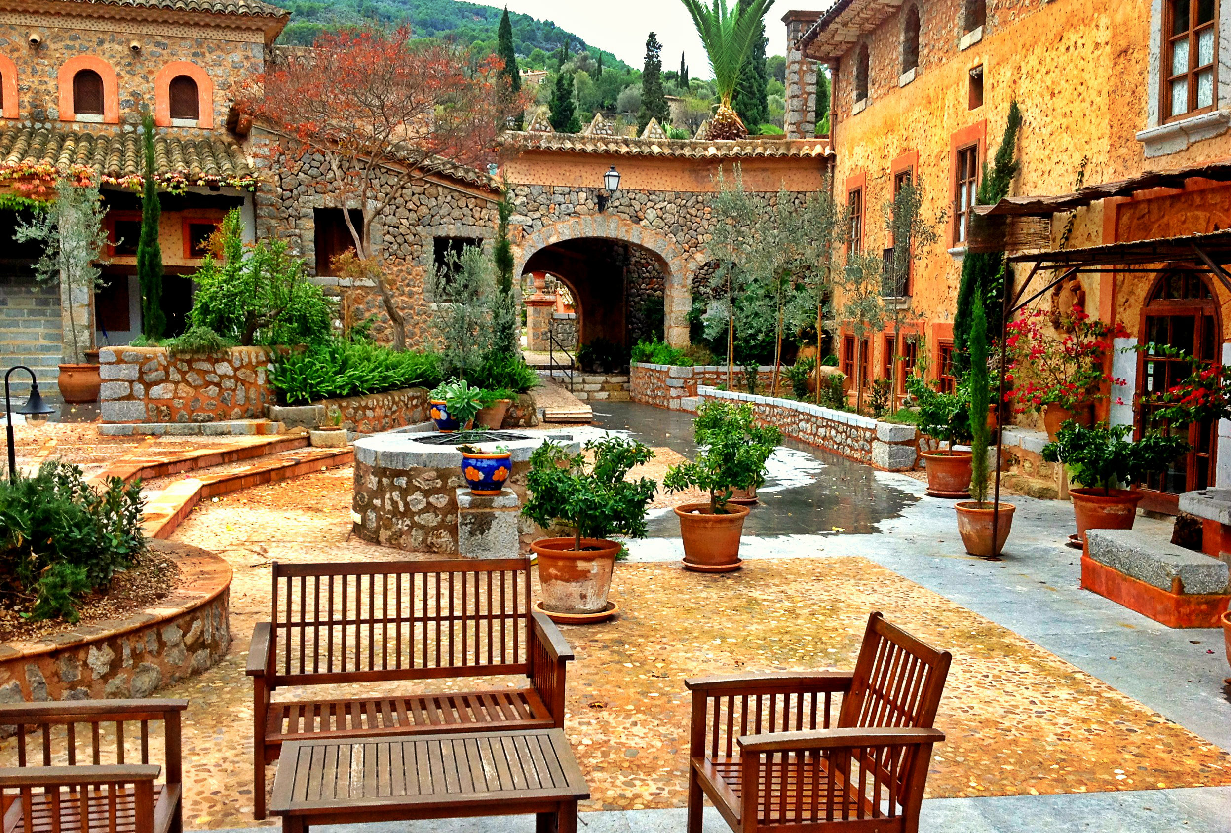 The famous Ca N'Aí Finca in Sóller - a great destination for romantic lovers and adventurers.