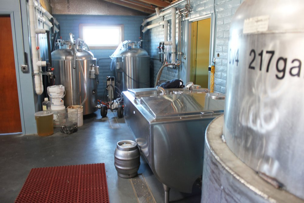 The brewery at Nickel Beer Co.