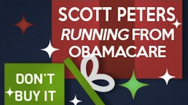 Cyber Monday political ad slamming congressman Scott Peters