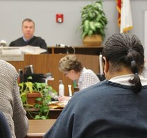 Judge Bowman sentenced Hood. Photo Eva