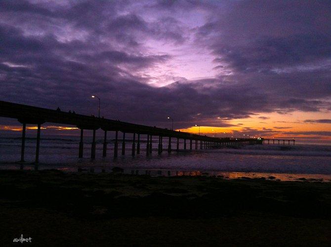 "Ocean Beach  Nov 30 2013 ""Purple Heavens ""   Audrey Wilmot"