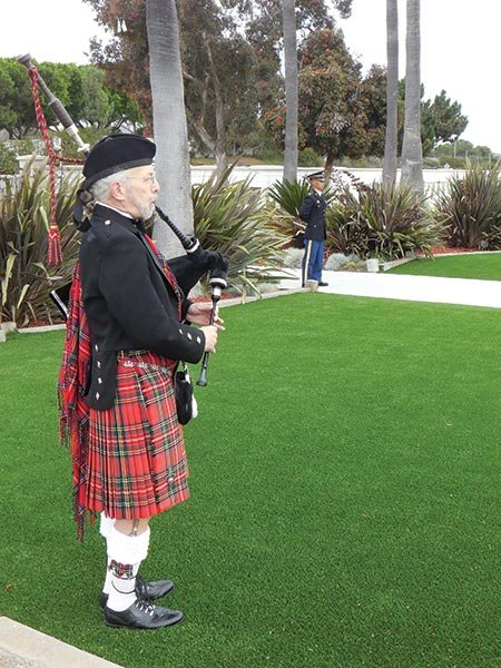 Skip the carolers — hire Larry Samuels to play the bagpipes at your holiday event.