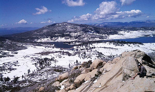 The view from Stonewall Peak is at its best after a December snowfall.