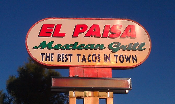 Look for El Paisa's sign and try some of the best tacos in town.