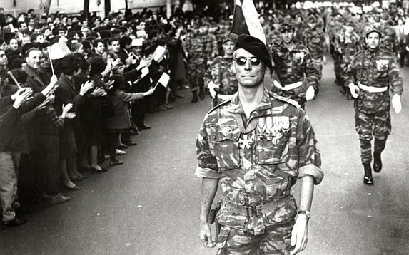 A scene from Gillo Pontecorvo's The Battle of Algiers.