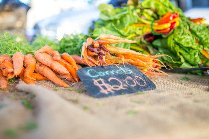 Pacific Beach Farmer's Market and some organic carrots. Mmmm!