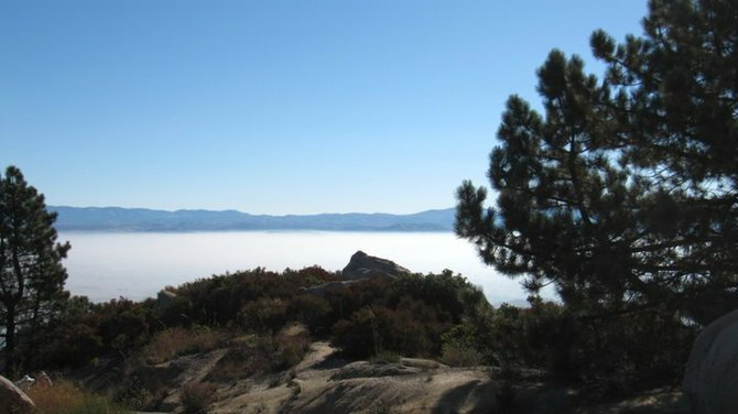 Mt. Woodson - Above the clouds scenic picture
