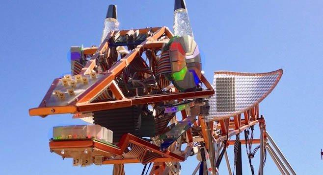 San Diego Mini Maker Faire's unofficial mascot - The Electric Giraffe