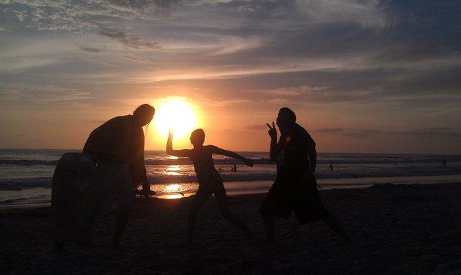 Sunset Beach Pose