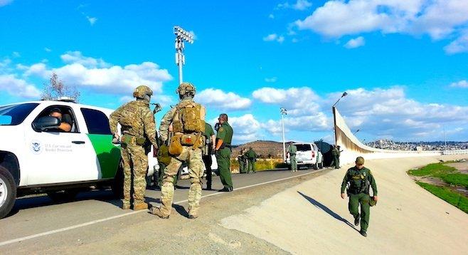 Border agents assembling on December 5