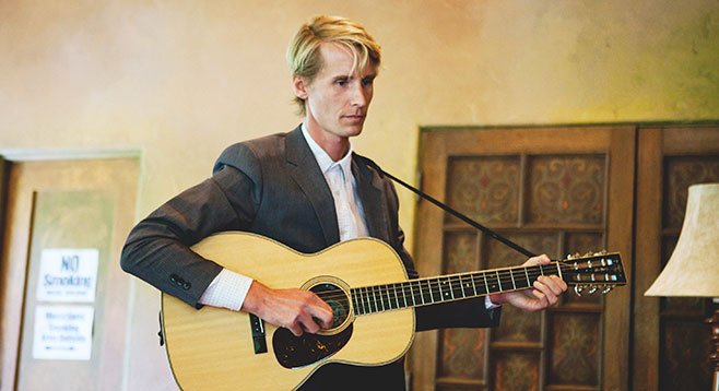 Grand Forks folkie Brosseau came west and went door-to-door looking for Gregory Page and selling CDs.