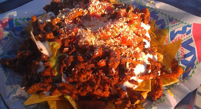 Diego-Mex adobada, though far from its roots, is a consistent, late-night pleaser.