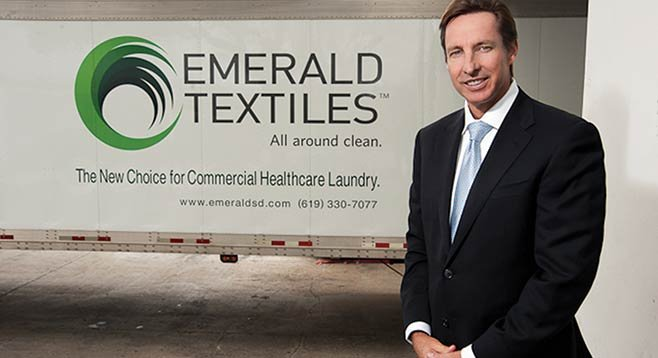 "Tom Gildred believes his laundry is the ""most innovative and environmentally responsible commercial healthcare laundry facility in the United States."""