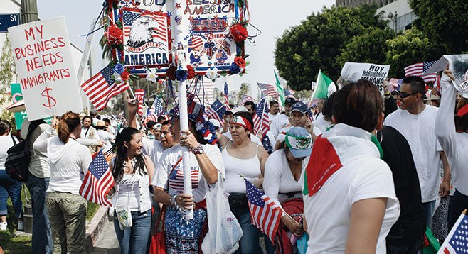 Catherine Opie, Untitled #2 (Immigration March, Los Angeles, CA), 2006 (courtesy of the artist and Regen Projects, Los Angeles).
