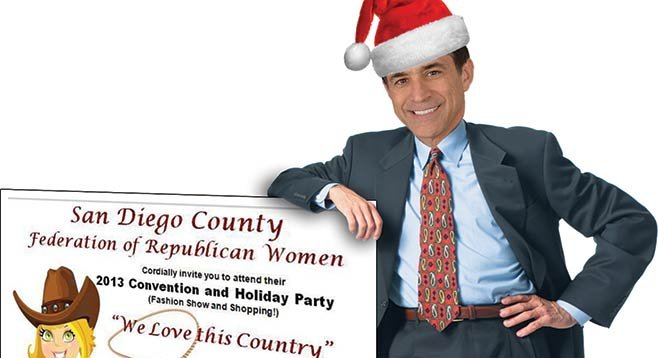 San Diego's Republican women love Darrell Issa, especially when he wears his Santa hat.