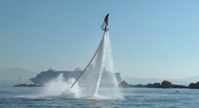 "Flyboarding — ""Wow, they've had a 2012 World Cup. This is a real sport!"""