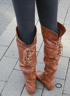 0a86febd7d8 Michelle Shen s lace-up boots