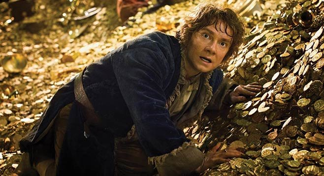 The Hobbit: Desolation of Smaug, starring Martin Freeman as Bilbo Baggins and your money as Smaug's hoard.