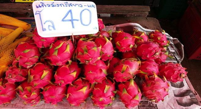 Dragonfruit goodness in a Bangkok street market. (See tip #7.)
