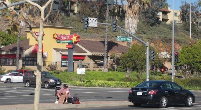 Fletcher Parkway panhandler