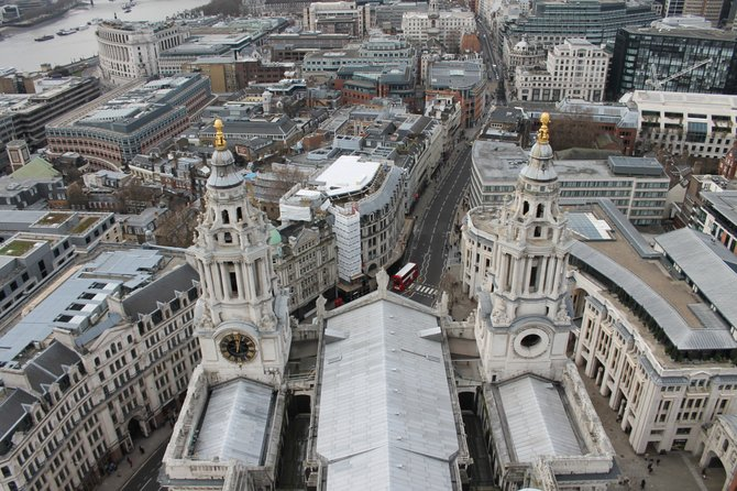 On top of St. Paul's Cathedral. London, England.