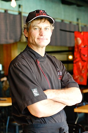 Café Japengo Executive Chef Jerry Warner is competing against Tokyo sushi master Toshikatsu Aoki in a TV cooking challenge set to air in Japan in January.